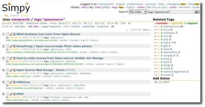 Homepage Simpy