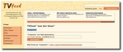 TVfeed Homepage