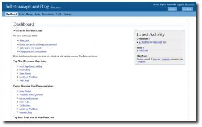 Dashboard WordPress.com