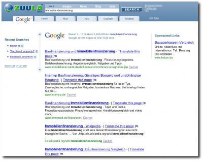 Suchmaschine Zuula
