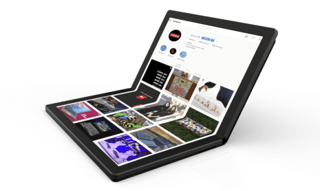 Lenovo Worlds First Foldable PC 2 e1557714771925 1024x612 Lenovo ThinkPad X1 Foldable PC Prototype