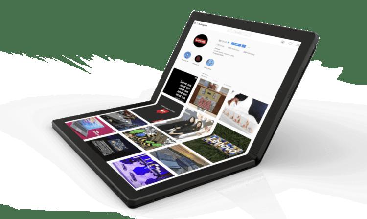 Lenovo Worlds First Foldable PC 2 e1557714771925 1024x612 Lenovo ThinkPad X1 Foldable PC Prototype