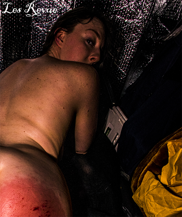 Cropped image of the beautiful fetish model with the tormented ass cheeks after the spanking. Memebers can see the full image uncropped and in high resolution.