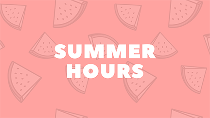 Graduation Weekend and Summer Hours