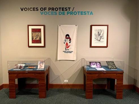 Voices of Protest/Voces de Protesta exhibition view