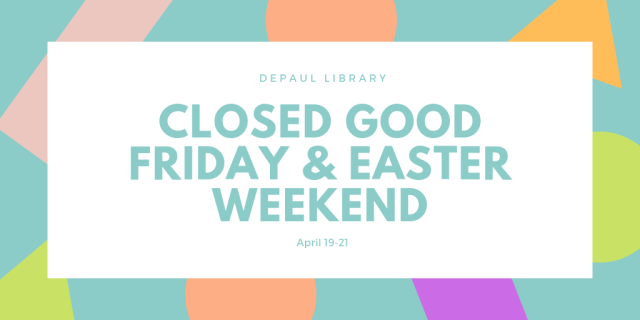 Closed Good Friday & Easter Weekend April 19-21