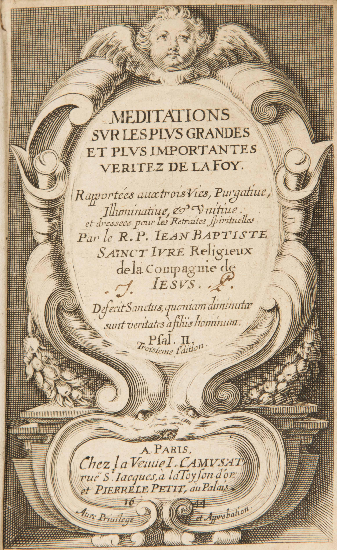 Saint Vincent's Reading List: LXVII Vincent's Circle: Jean-Baptiste Saint-Jure, S.J.