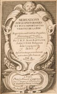 Title page of Meditations sur les plus grandes et plus importantes veritez de la Foy, 1644