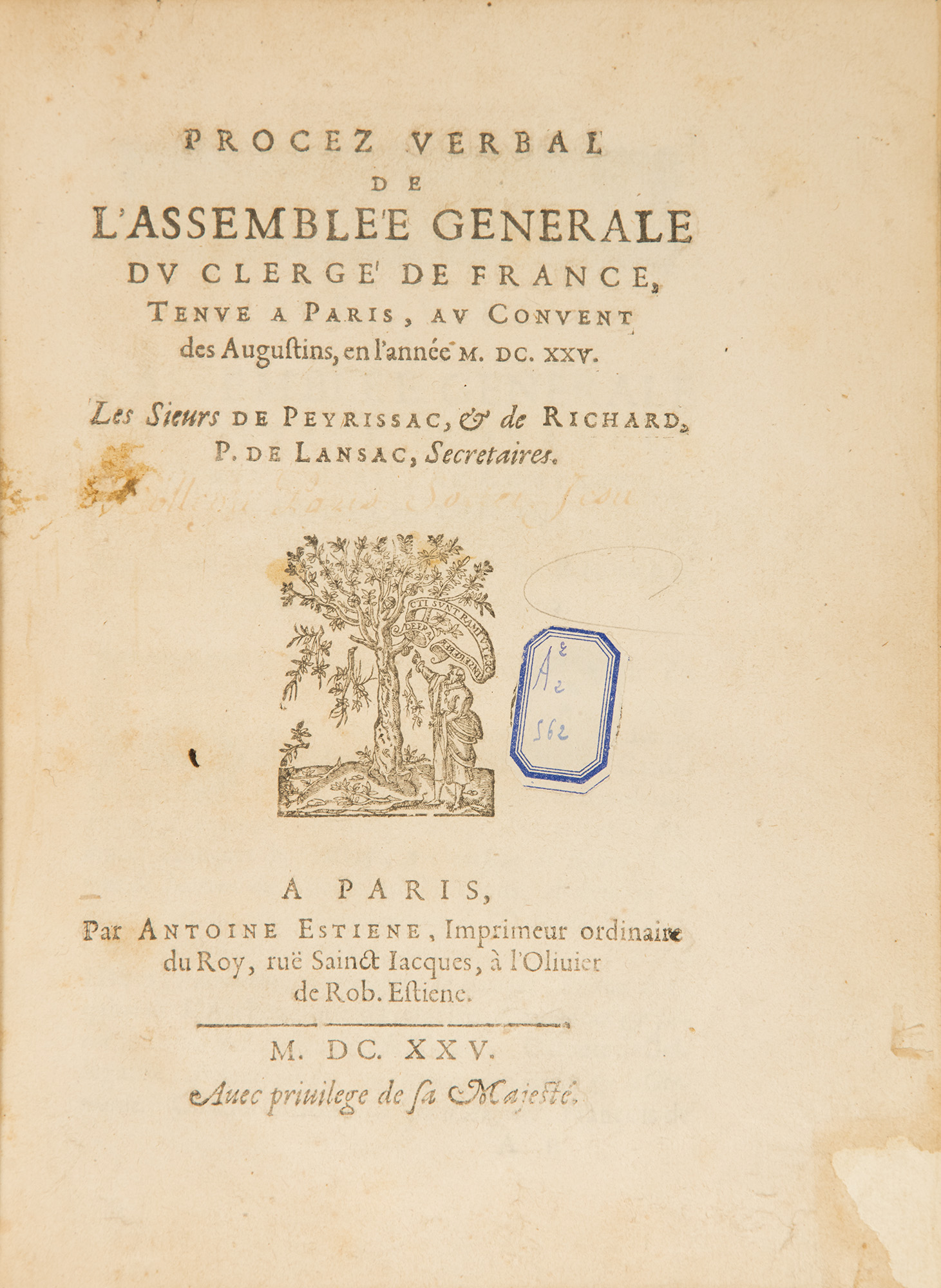 Saint Vincent's Reading List: LXVIII: The General Assemblies of the Clergy of France