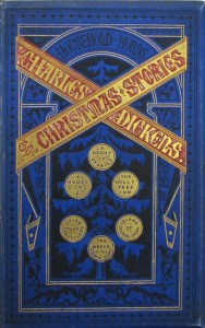 Stylized cover of a collected edition of Christmas stories from Household Words.