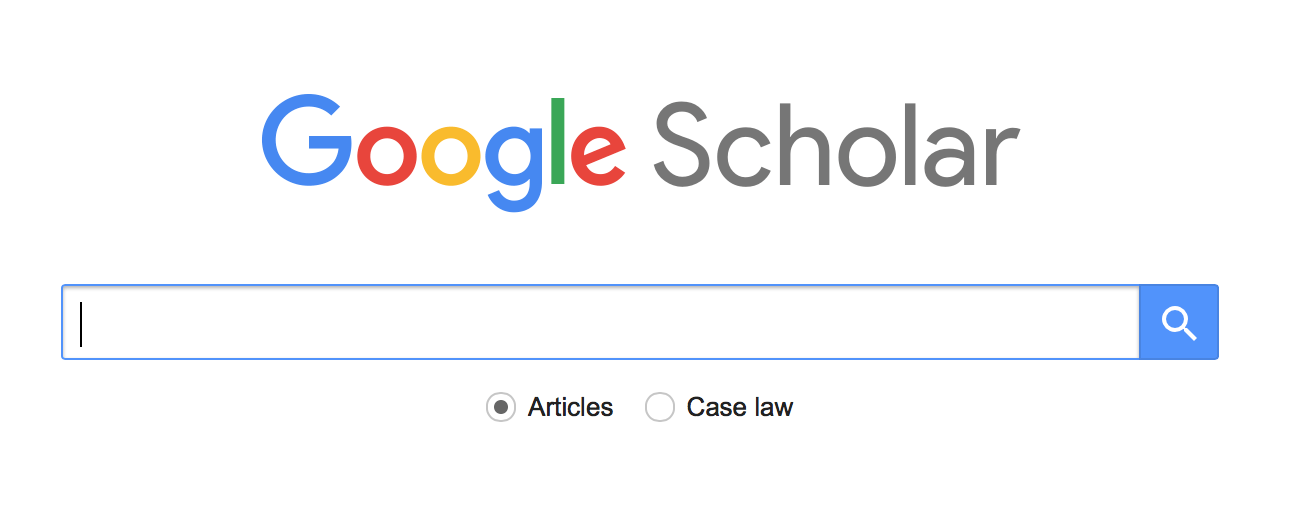 Google Scholar search box