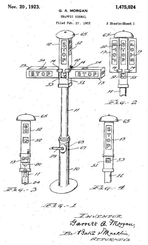 Patent image of early traffic signal