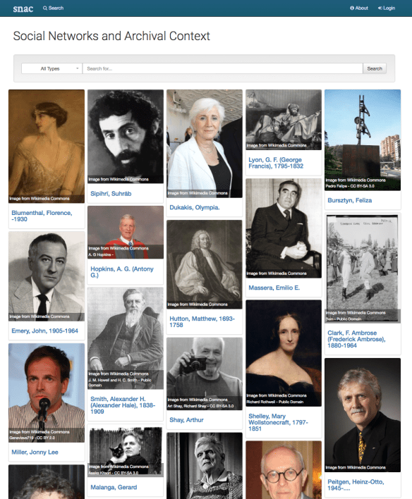 Screenshot of The Social Networks and Archival Content site