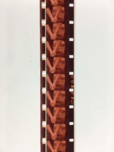 Several frames of film in good shape