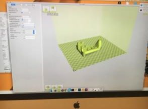 computer screen displaying 3-D printing software