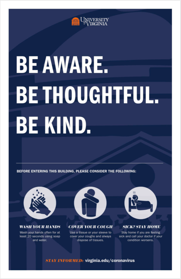 Be aware. Be thoughtful. Be kind. Before entering this building, please consider the following: wash your hands; cover your cough; sick? Stay home.