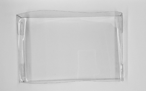 Clear plastic tray with sides, fully assembled