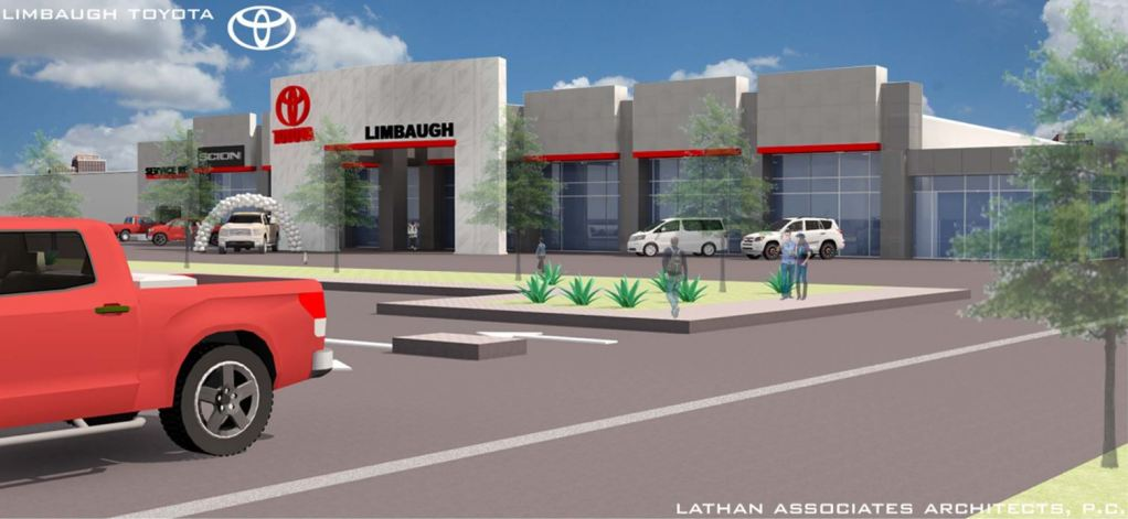 Architectural Rendering Of The New Limbaugh Toyota Dealership