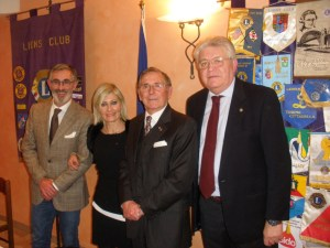 Il Segretario Pier Felice Scagliotti, la Vice Presidente Alessandra Rosso, il relatore Gen. Peter Costanzo, il Censore Giuseppe Varalda