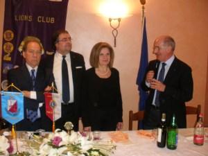 il Dott. Lalicata con il socio Chiesa, la Presidente Pastorelli e il Geom. Spinoglio