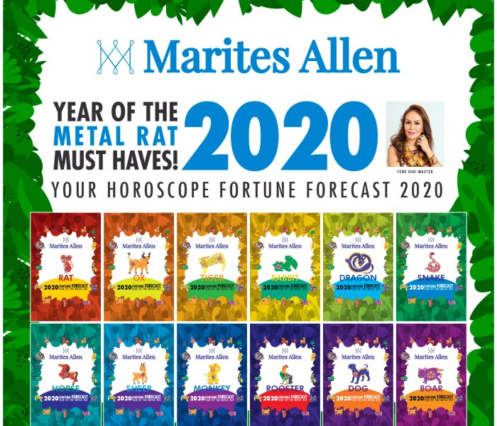 2020 Feng Shui Planners and Books Available by Nov.24 from Feng Shui Queen Marites Allen