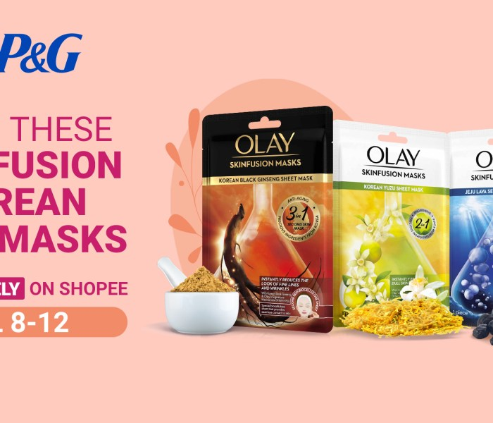 3-Piece Skinfusion Korean Mask from Olay Launches Exclusively at Shopee