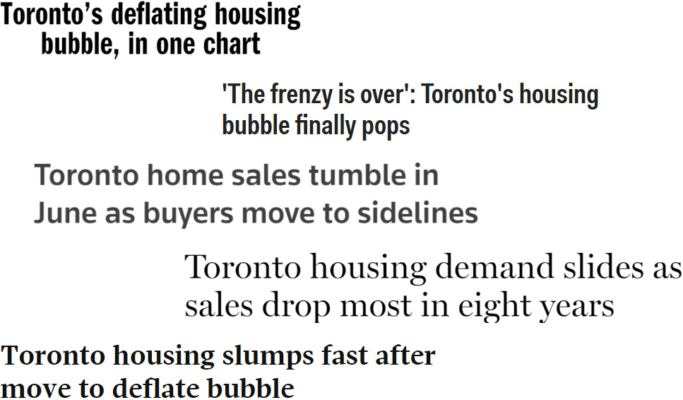 Bursting the real estate bubble - news headlines