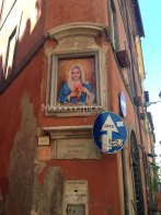 Madonna's image in Rome