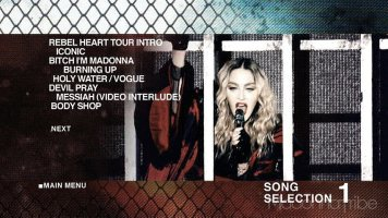 Rebel Heart Tour menu