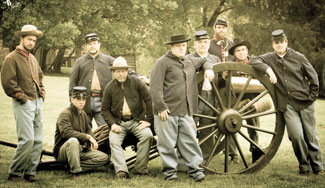 Civil War re-enactors at Gathland State Park