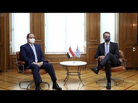 Κυρ. Μητσοτάκης- Αλ Σίσι: «Θα αντιμετωπίσουμε από κοινού όσους απειλούν την ειρήνη στην περιοχή μ…