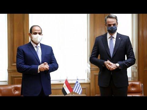 Κοινές δηλώσεις Μητσοτάκη – Αλ Σίσι στο Κάιρο