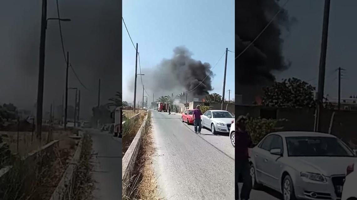 Νάξος – Φωτιά έξω από τη πόλη της Νάξου