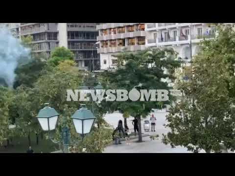 newsbomb.gr: Επεισόδια στο Σύνταγμα (21/07)