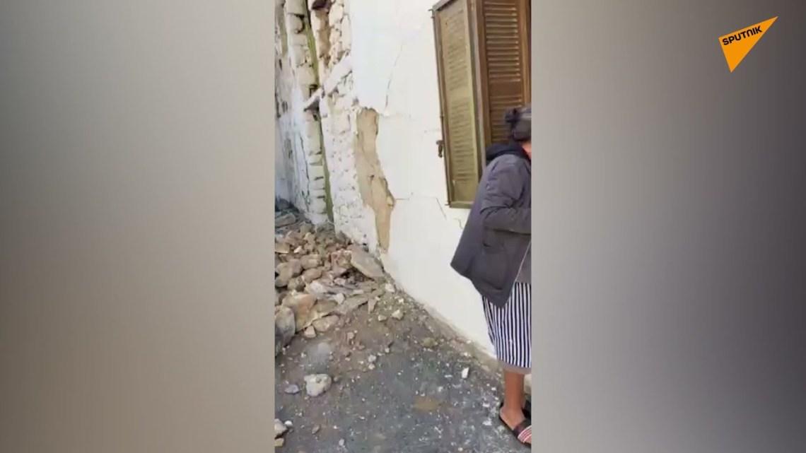Εικόνες καταστροφής από τον σεισμό στην Κρήτη