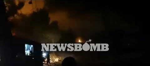 newsbomb.gr: Φωτιά στη Νέα Μάκρη – Μάχη για την πυρόσβεση