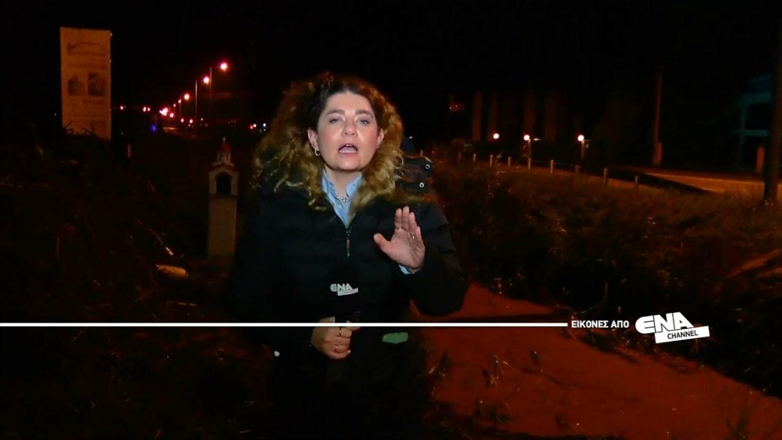 Κακοκαιρία «Μπάλλος»   Νυχτερινές εικόνες από τον Δήμο Παγγαίου