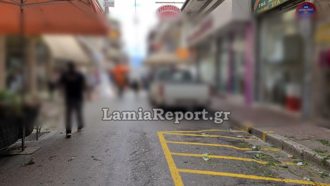 LamiaReport.gr: Έπεσε ξύλο στη λαϊκή αγορά της Λαμίας