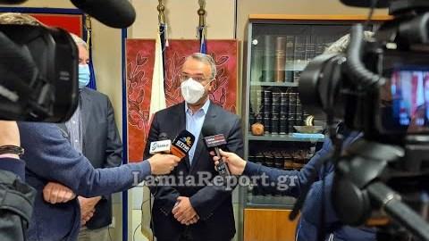 LamiaReport.gr: Ο Χρήστος Σταϊκούρας στο Γ.Ν. Λαμίας για την Ογκολογική
