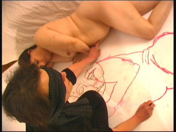 Anne Bean, Drawing Life, 2006. Video still.