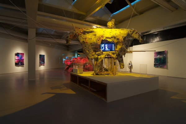 Nathaniel Mellors, The Nest, exhibition view at Cobra Museum, Amstelveen. Open until 4 March 2012.