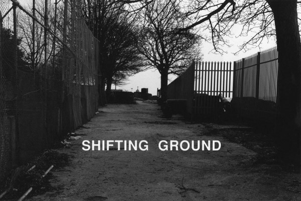 Willie Doherty, Shifting Ground, 1991. Black and white photograph with text mounted on aluminium, 122 x 183 cm.
