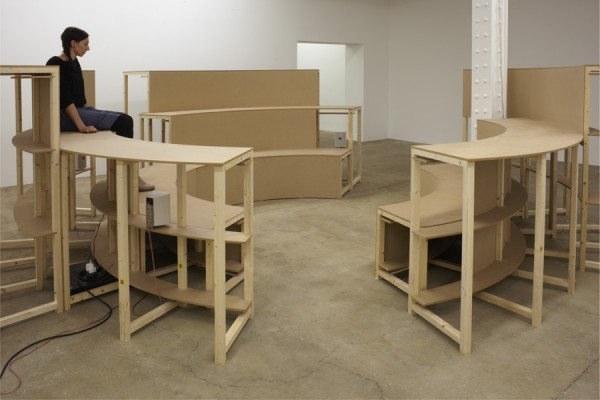 Anna Barham, Arena, 2011. Installation at Matt's Gallery. Photograph by Peter White. On exhibition until 21 October 2012.