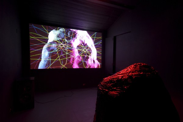 Benedict Drew, Gliss, 2012. Photo by Milika Muritu. Installation view at Cell Projects Space, London.
