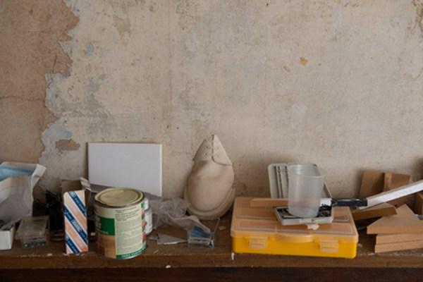 Exhibition Invite. Trevor Shearer's Studio, Beck Road, London 2013. Photo by Hugo Glendinning.