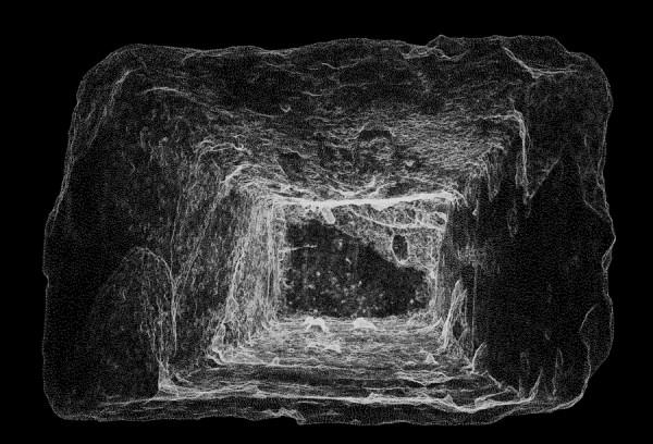 White Brick, 3D laser-scan, Imogen Stidworthy 2014