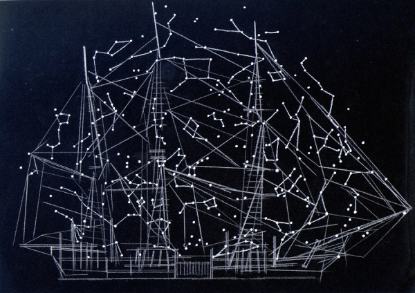 Alison Turnbull, Navigating Moby Dick, Pencil and ink on paper, 2012. Image courtesy of the artist