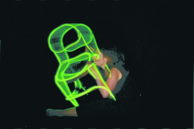 Anne Bean, Falling in Love with a Chair, 2003. NRLA, Glasgow. Image courtesy of the artist and Matt's Gallery, London