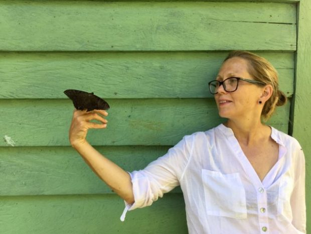 Alison Turnbull on a butterfly expedition in Columbia, 2018. Image courtesy the artist and Matt's Gallery, London