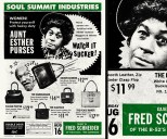 Soul Summit Posters emulate vintage back-of-the-book magazine advertisements such as this one, featuring Aunt Esther and Fred Sanford. (Scott Williams)